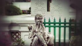 Estatua en el templo de Arun, Bangkok Fotografía de archivo