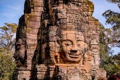 Estatua en el templo de Bayon foto de archivo libre de regalías