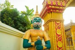 Estatua en el templo en Laos Fotos de archivo libres de regalías