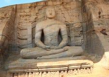 Estatua en Gal Vihara en Polonnaruwa Fotografía de archivo