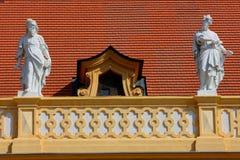Estatua en la abadía de Melk, verano de Alemania 2011 Foto de archivo libre de regalías