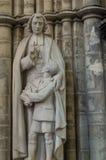 Estatua en la catedral de San Miguel y de St Gudula Bruselas Imagen de archivo libre de regalías