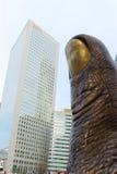 Estatua en la forma de una pulgada Fotografía de archivo libre de regalías