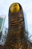 Estatua en la forma de una pulgada Foto de archivo libre de regalías