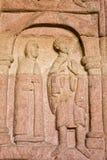Estatua en la iglesia de Andlau, Francia 9 de julio de 2009 Francia Foto de archivo libre de regalías
