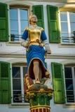 Estatua en Lausanne fotografía de archivo