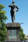 Estatua en memoria del soldado galante Lt columna George Elliott Bens fotografía de archivo libre de regalías