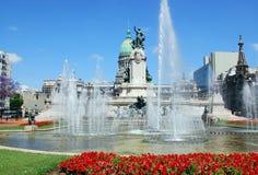 Estatua en plaza del congreso Foto de archivo libre de regalías