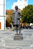 Estatua en Sibiu, capital europea de la cultura por el año 2007 Fotos de archivo