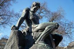 Estatua en Suecia fotos de archivo libres de regalías