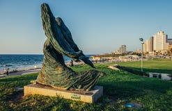 Estatua en Tel Aviv Fotos de archivo