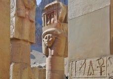Estatua en templo del pharaoh Fotos de archivo