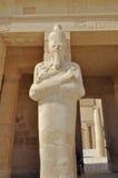 Estatua en templo del pharaoh Imagen de archivo