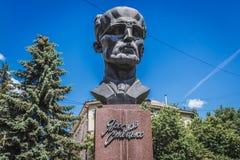 Estatua en Ternopil imagenes de archivo