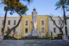 Estatua en un cuadrado, Sorrento Foto de archivo libre de regalías