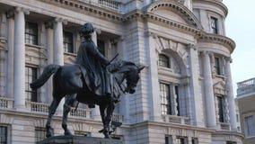 Estatua en Whitehall Londres metrajes