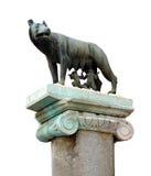 Estatua famosa del she-wolf en Roma Fotos de archivo