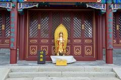 Estatua femenina china de dios Fotografía de archivo