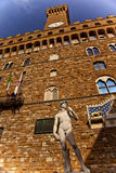 Estatua Florencia de Signoria David del della de Palazzo Imágenes de archivo libres de regalías