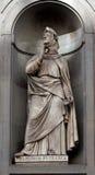 Estatua Francesco Petrarca, Uffizi, Florencia, Italia imagen de archivo