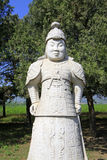 Estatua general de piedra en las tumbas reales del este de Qing Dyna Foto de archivo libre de regalías