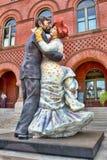 Estatua gigante de los bailarines del salón de baile Imagen de archivo