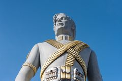 Estatua gigante de Michael Jackson en la feria en Lausanne, Switzer fotos de archivo