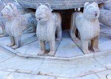 Estatua Granada España de Alhambra Moorish Courtyard Lions Fountain foto de archivo libre de regalías
