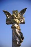 Estatua gótica del ángel Fotos de archivo libres de regalías