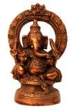 Estatua hecha a mano del metal de Ganesha de dios hindú Imagen de archivo