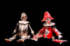 Estatua hecha a mano del metal de una marioneta del carnaval Foto de archivo libre de regalías
