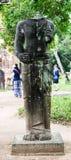 Estatua hindú arruinada de dios en el templo de mi santuario del hijo en Quang Nam, Vietnam Foto de archivo libre de regalías