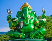 Estatua hindú grande verde de dios de Ganesha Fotos de archivo libres de regalías