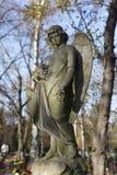 Estatua histórica en el cementerio viejo de Praga del misterio, República Checa imágenes de archivo libres de regalías