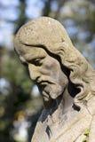 Estatua histórica en el cementerio viejo de Praga del misterio, República Checa fotografía de archivo libre de regalías