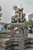 Estatua histórica en la República Checa de Trutnov fotos de archivo