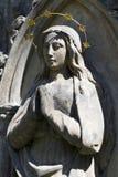 Estatua hist?rica en el cementerio viejo de Praga del misterio, Rep?blica Checa fotos de archivo libres de regalías