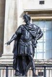 Estatua histórica de rey James II de Inglaterra Londres, Reino Unido Foto de archivo libre de regalías