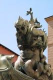 Estatua horrible en Livorno, Italia foto de archivo libre de regalías