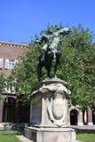 Estatua II de Rakoczi Ferenc en Szeged, Hungría, región de Csongrad foto de archivo