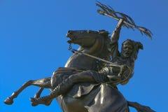 Estatua INCONQUISTADA de FSU Foto de archivo libre de regalías