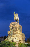 Estatua intrépida de rey Juame en Palma Foto de archivo