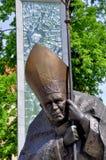 Estatua J Paulo II Fotos de archivo