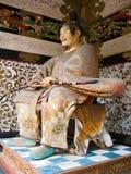 Estatua japonesa del samurai Imagen de archivo libre de regalías