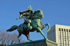Estatua japonesa del samurai Fotografía de archivo
