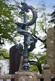 Estatua japonesa en un templo de Shinsho, Narita, Japón del dragón Foto de archivo