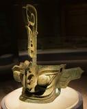 Estatua larga China de la máscara de ojo de Potruding Foto de archivo libre de regalías