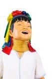 Estatua larga feliz del cuello de Karen Fotos de archivo
