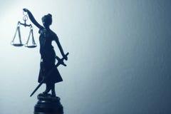 Estatua legal de la ley de la justicia imagen de archivo libre de regalías