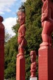 Estatua maorí en Rotorua imágenes de archivo libres de regalías